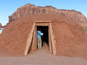 134 - Day 6 - Navajo 'hogan_' Monument Valley_ Wine Tasting and Western BBQ at Red Cliffs.JPG