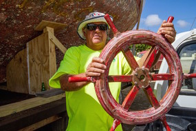 Boat builder Johnny Craane is heading the restoration work.