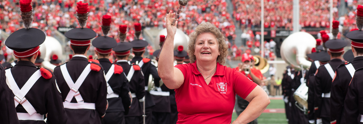 Shelly Graf on the field at Ohio Stadium