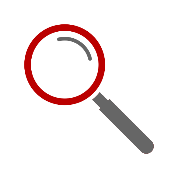 Illustration of a magnifying glass