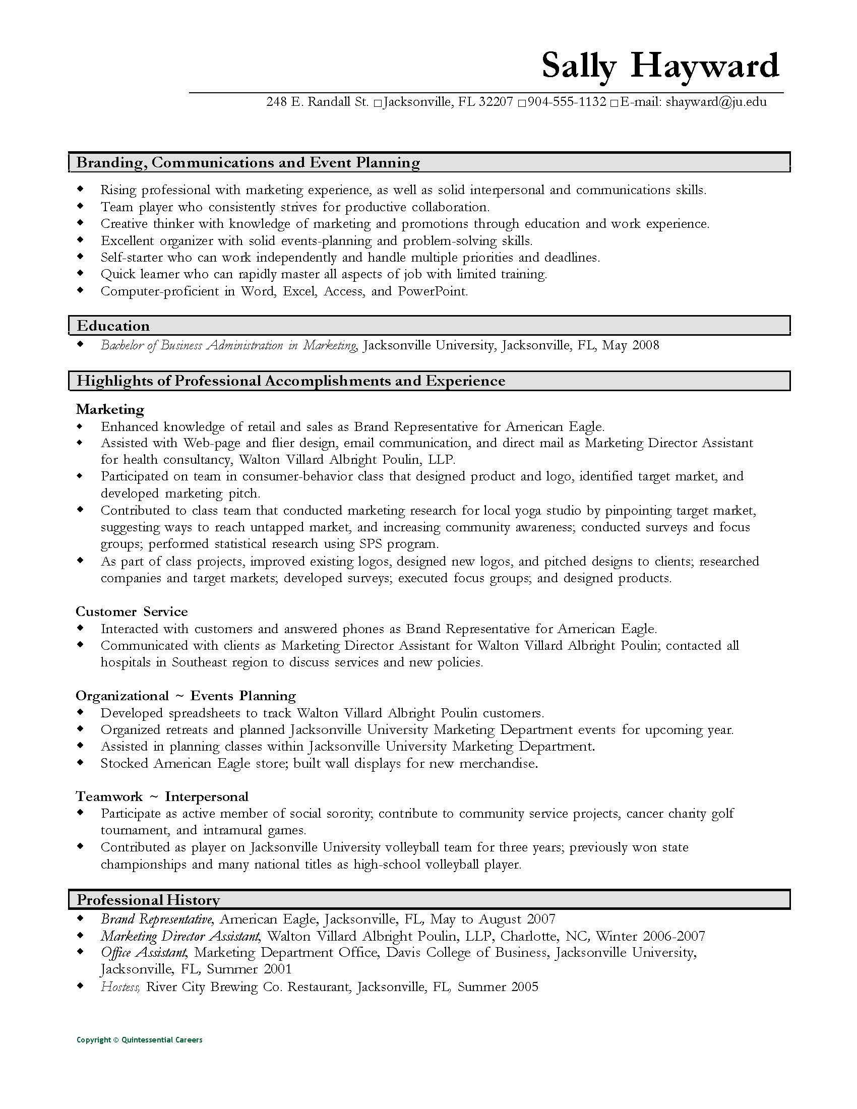 resumes and cover letters the ohio state university alumni functional resume