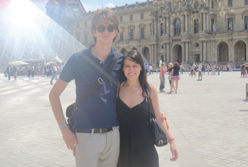 Quentin Boulenger and Heather Szozda enjoy a day in Paris in 2009.