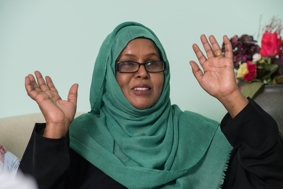 Lina Mohamed talks about Ilhan during a recent visit with a writer and photographer interested in the journey Mohamed's daughter took to becoming a Rhodes Scholar.