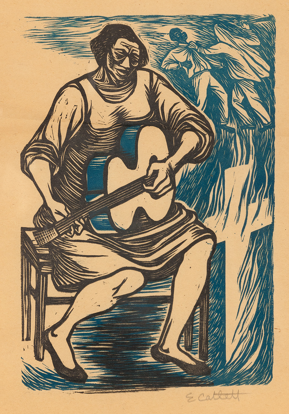 """I Have Sung My Song"" by Elizabeth Catlett"