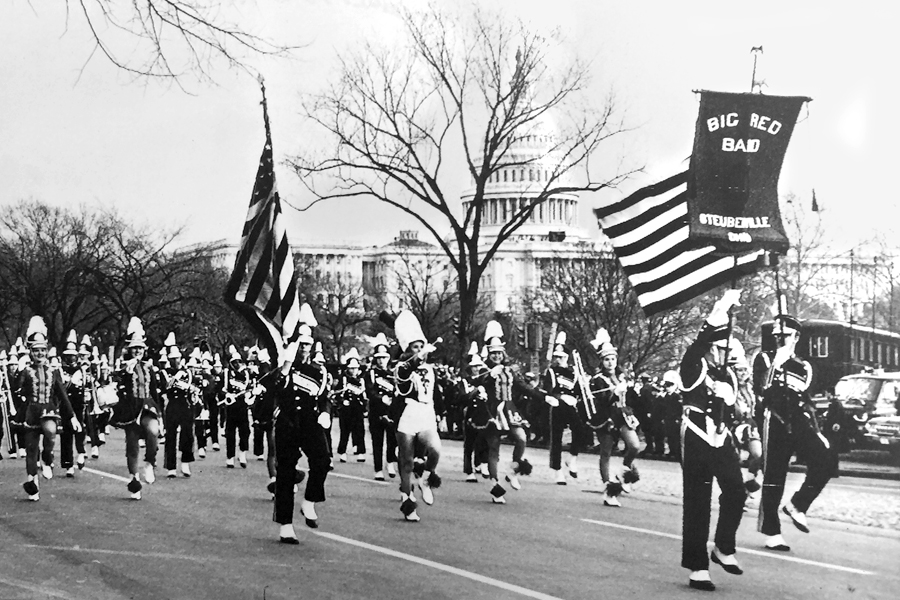 As Steubenville High School band director, Violi led students in the inaugural parade of John F. Kennedy.
