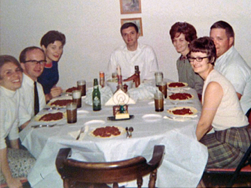 Friends of Bill Hildebolt at a spaghetti dinner