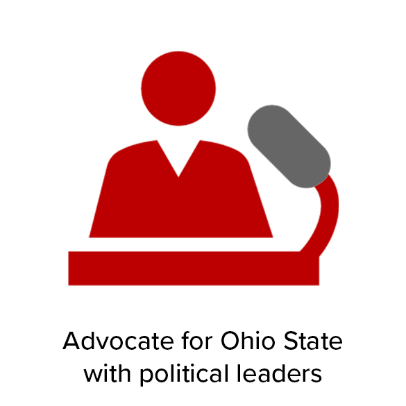 Advocate for Ohio State with political leaders