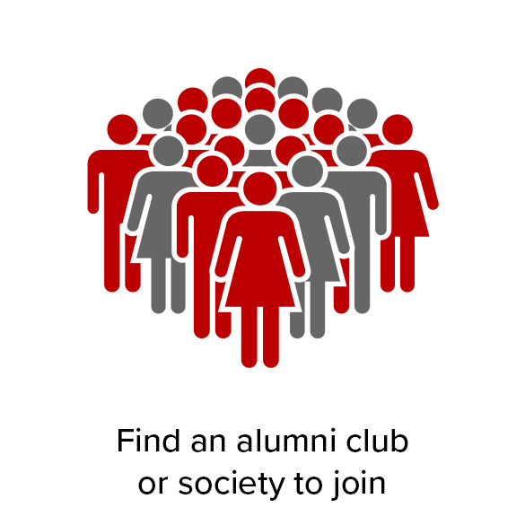 Find an alumni club or society to join