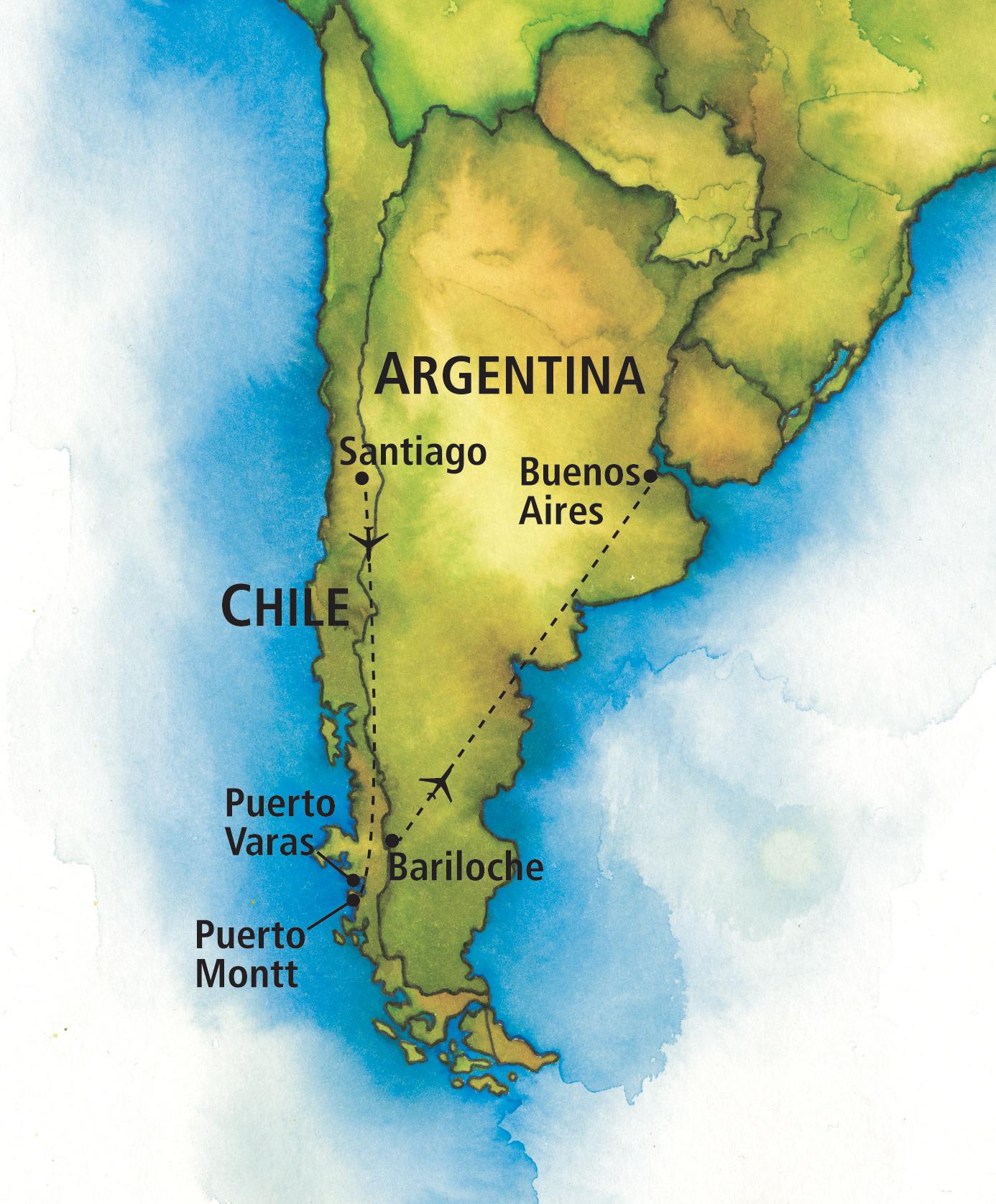 Portrait Of Chile And Argentina The Ohio State University Alumni - Argentina chile map