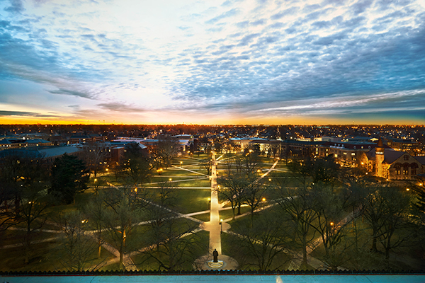 photo of sunset on the oval