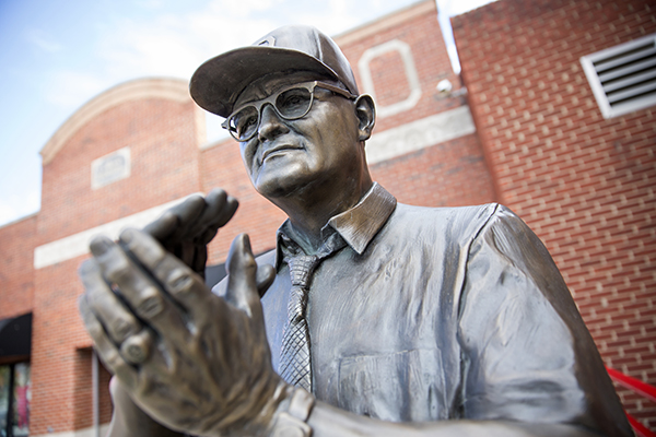 photo of Woody Hayes statue