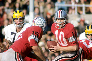 Buckeyes quarterback Rex Kern playing during the 1968 season