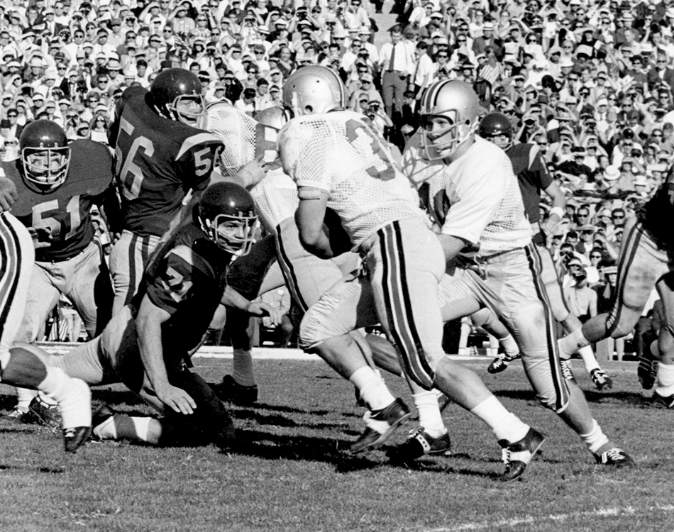 The Jan. 1, 1969, Rose Bowl between Ohio State University and the University of Southern California