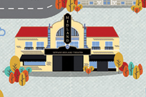 Illustration of the Midland Theater in Newark, Ohio