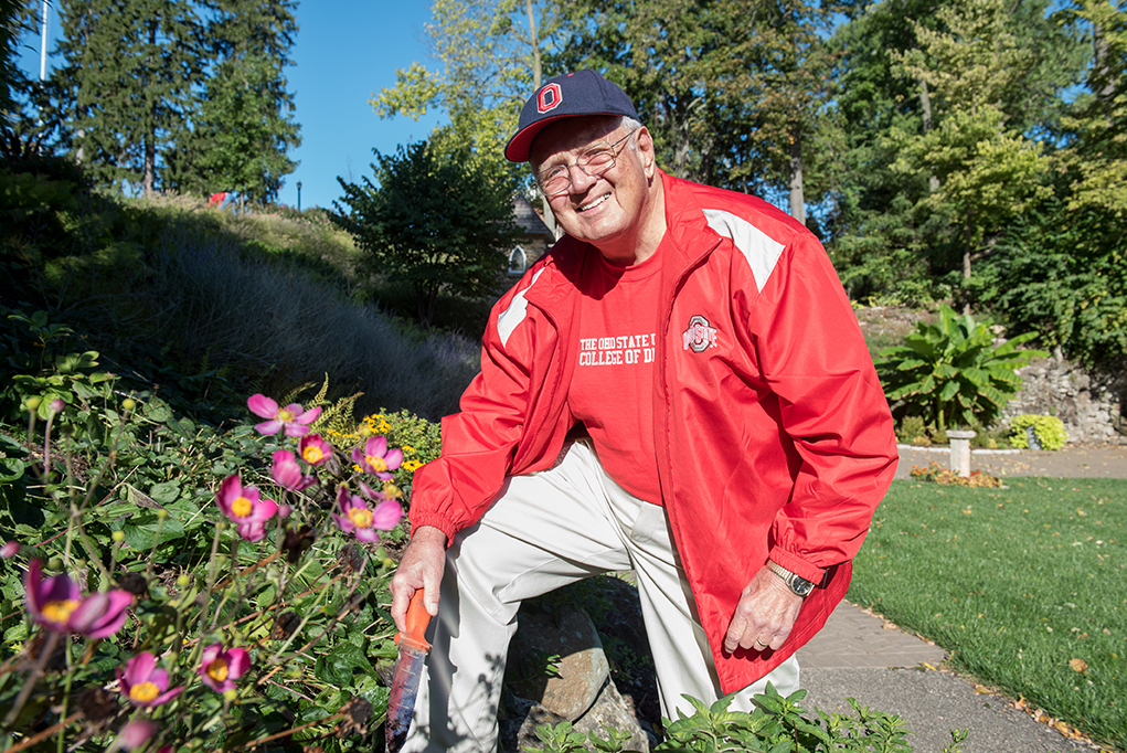 Alumnus Charles Dickerson and other master gardeners promote as well as maintain the gardens.