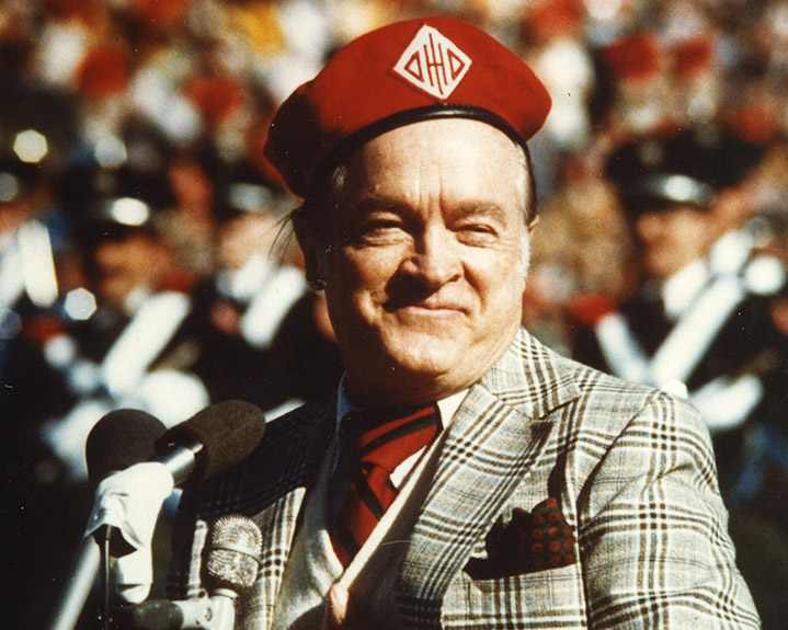 Bob Hope dots the i in 1978.
