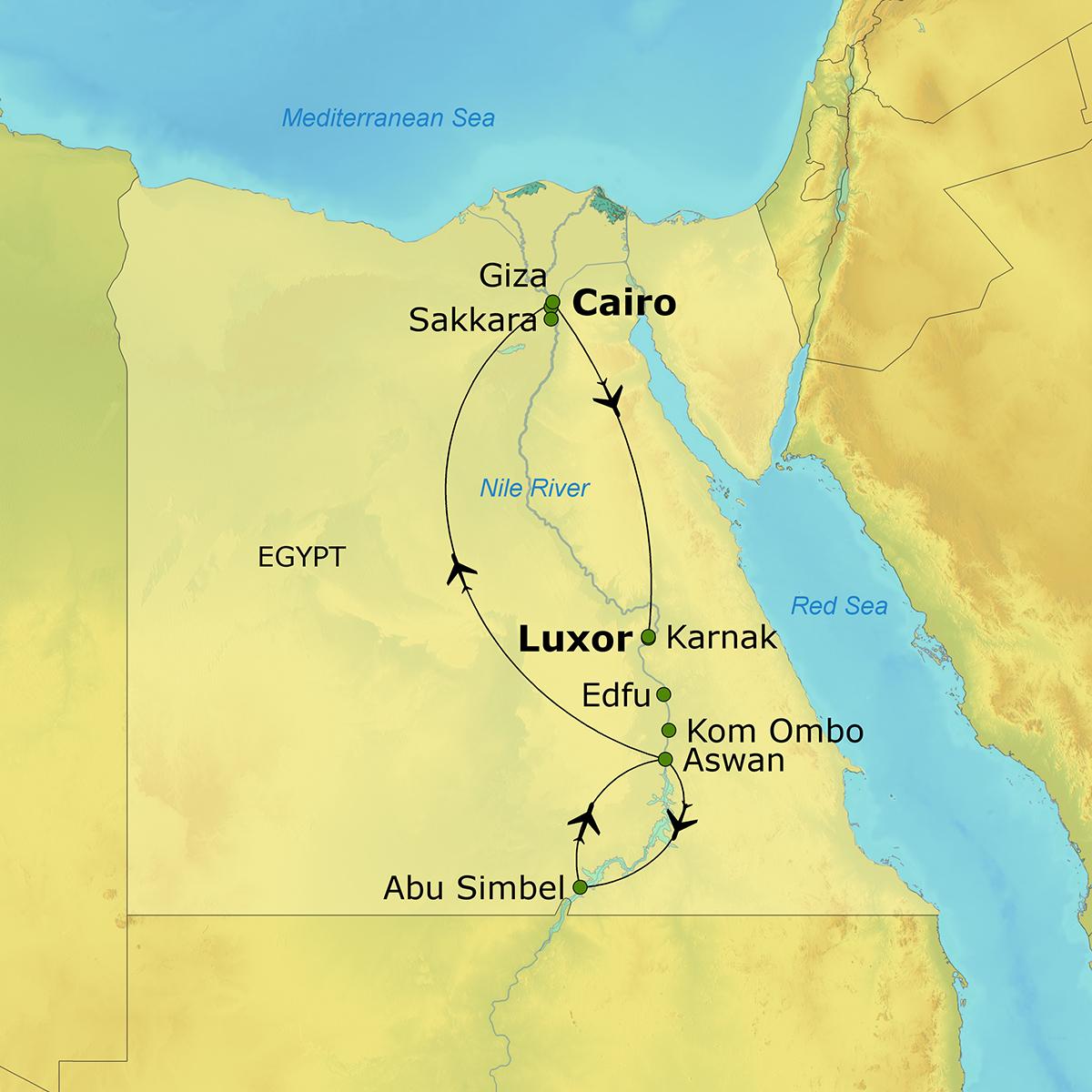 Legends Of The Nile The Ohio State University Alumni Association - Map of egypt karnak