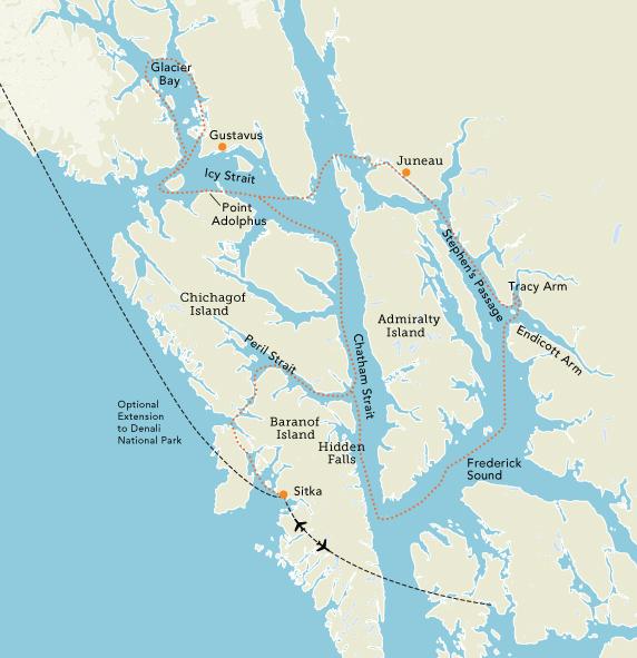 Icy Strait Point Alaska Map.Uk Alumni Association Discover Southeast Alaska