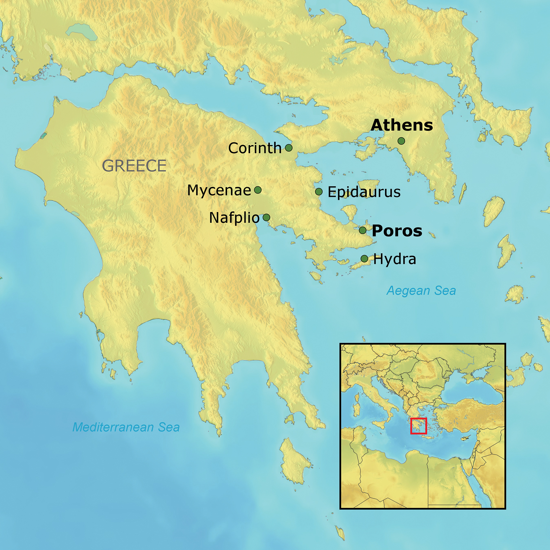 Greece athens and poros the ohio state university alumni association greece19mapg expand icon gumiabroncs Image collections