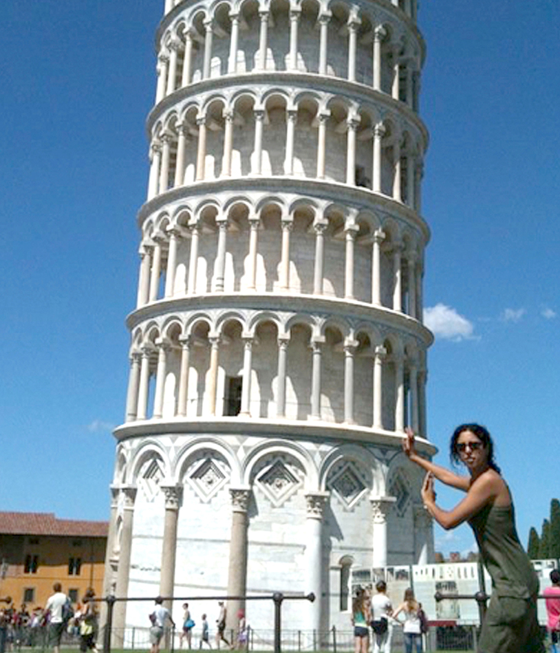 An eight-month trip through Europe, the Middle East, and Central and South America took Ida Abdalkhani to Italy's Leaning Tower of Pisa.