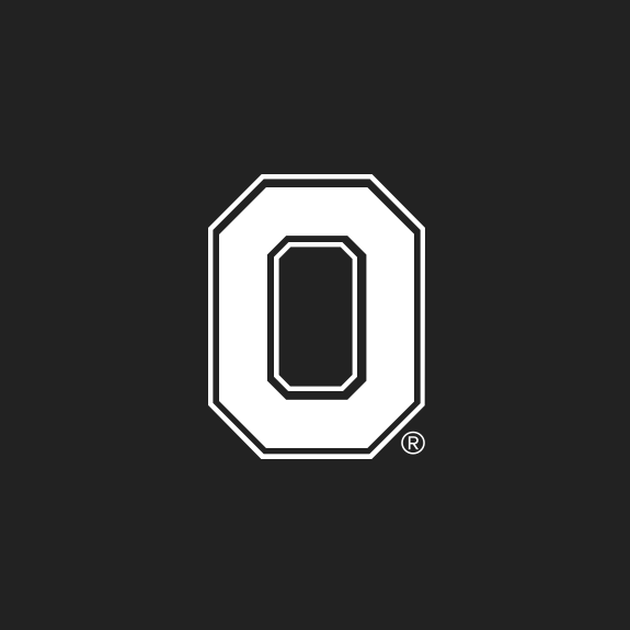 A black and white icon of the Ohio State block O