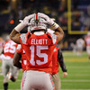 Ezekiel Elliott gets ready for the national championship.