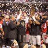 A golden victory, Ohio State celebrates its eighth national championship.