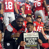 J. T. Barrett and Ohio State University President Michael V. Drake