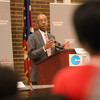 Ohio State President Michael V. Drake shares his message of access, affordability and excellence during a college affordability forum in Youngstown,