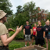 A staff member from the Civic Garden Center of Greater Cincinnati provides instruction to Ohio State students.