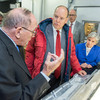 Prince Albert II of Monaco meets with Ohio State's renowned climatologists Lonnie Thompson and Ellen Mosley Thompson at the Byrd Polar Research Center on Wednesday, August 31, 2016.