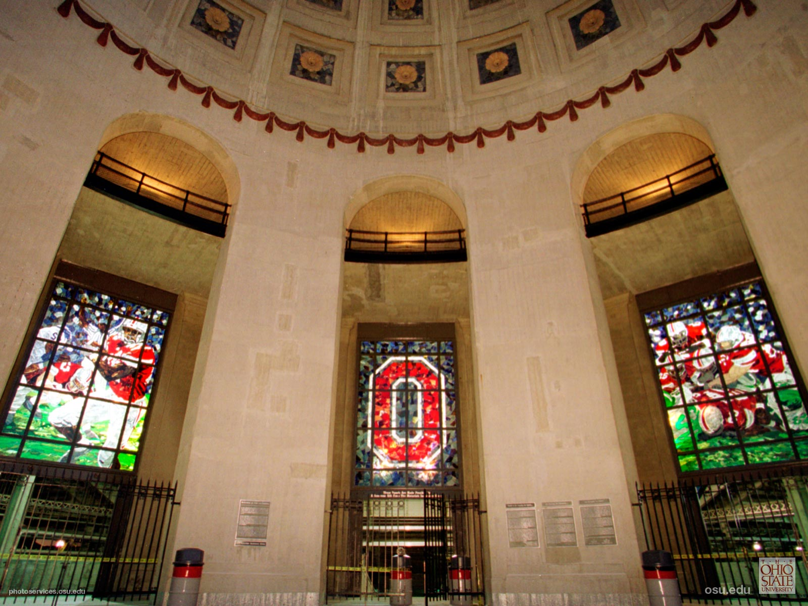 Stadium Stained Glass Windows Ohio Rotunda