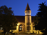 Orton Hall at night