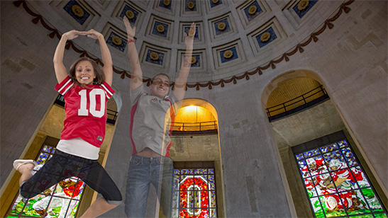 O-H-I-O at Ohio Stadium