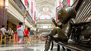 Brutus Buckeye at the Ohio Union