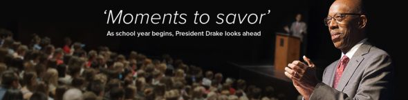 President Drake looks ahead to new school year