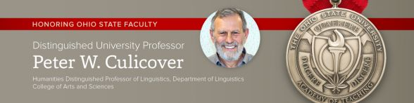 Distinguished University Professor Peter Culicover