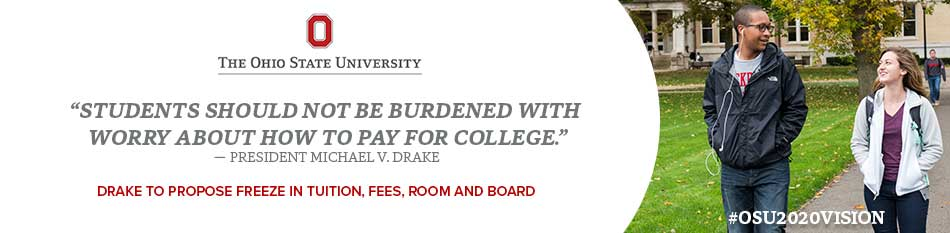 President Drake proposes freeze in tuition, fees, room and board.