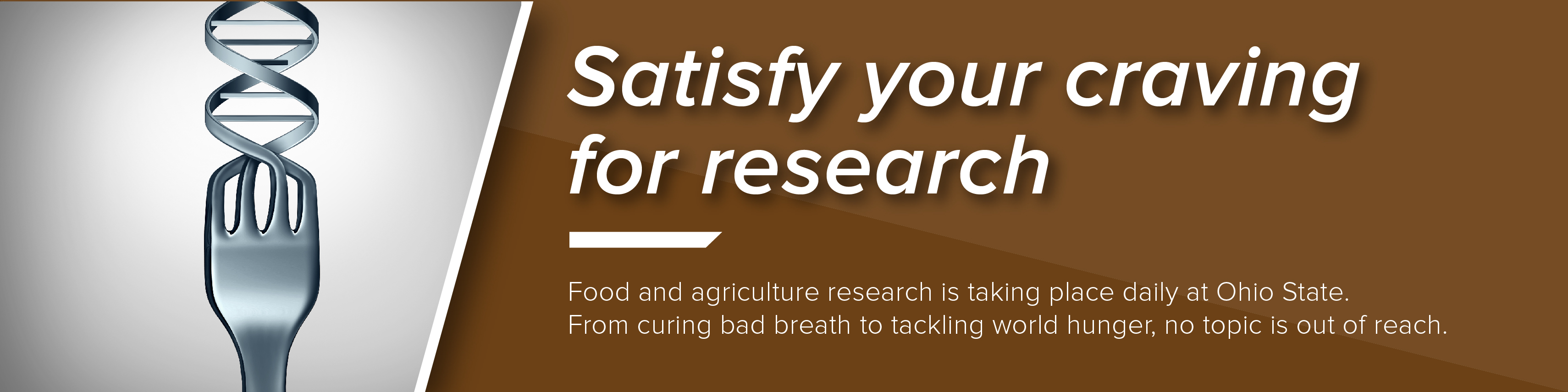Featured news item: Satisfy your craving for research