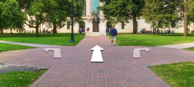 Self-guided, virtual tour of campus