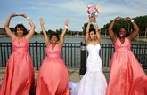 Bridesmaids were former college roommates