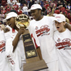 OSU women's basketball team with Big Ten trophy