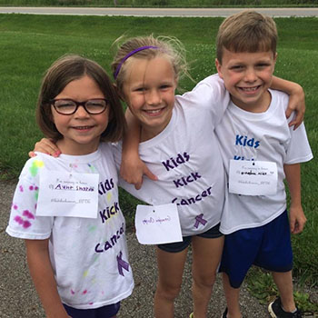 Dylan, Ella and Hailey raise money to fight cancer