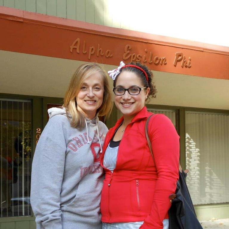 Alissa with her mother