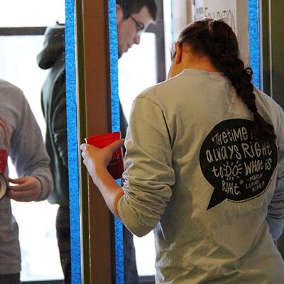 Students serve the community