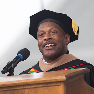 Archie Griffin at Spring Commencement 2015